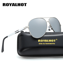 RoyalHot Polarized Aluminum Magnesium Oval Frame Sunglasses Men Women Driving Sun Glasses Shades Oculos masculino Male 900p64