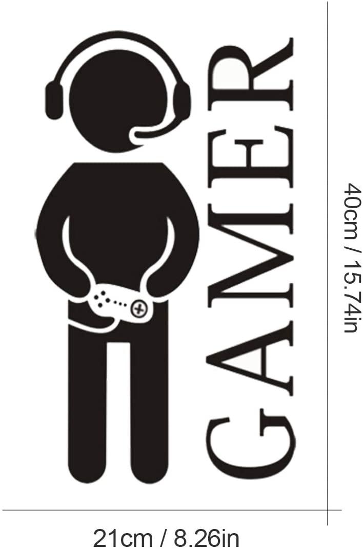 Настенный игровой стикер наклейка на стену с играющим мальчиком Спальня игровой комнате, уникальное украшение автомобиля стикер 40 см * 21 см