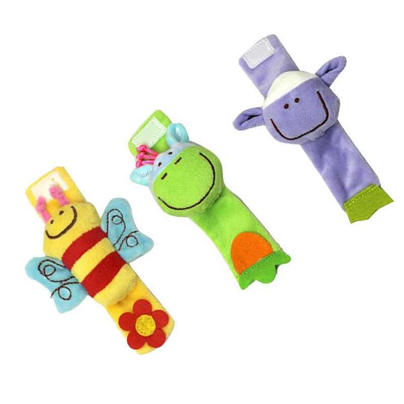 Soft Animal Infant Baby Rattles Toys Children Infant Baby Plush Wrist Rattles Baby Toy Hand Wrist