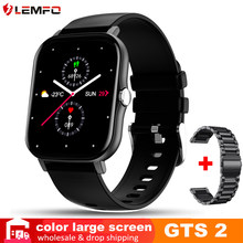 LEMFO GTS 2 Smartwatch 2021 IP68 Водонепроницаемый 1,7 дюймов DIY циферблат 15 дней в режиме ожидания Фитнес спортивные для amazfit gts 2 Смарт-часы Для мужчин