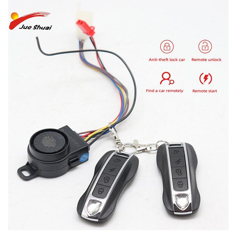 //Burglar Alarm Kit for Electric Bike Scooter 48v with 2 remote