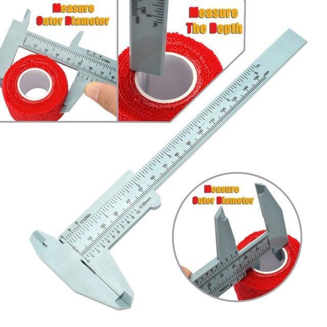 Plastic vernier caliper 150MM plastic caliper Vernier caliper Mini caliper Tattoo supplies 3
