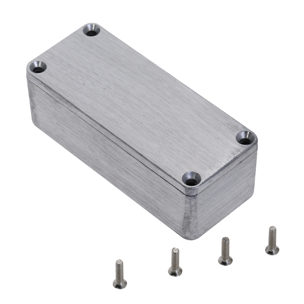 Silver Aluminium Enclosure Case Electronic Diecast Stompbox Project Box 1590A 92.2*38*31mm Project Instrument Case