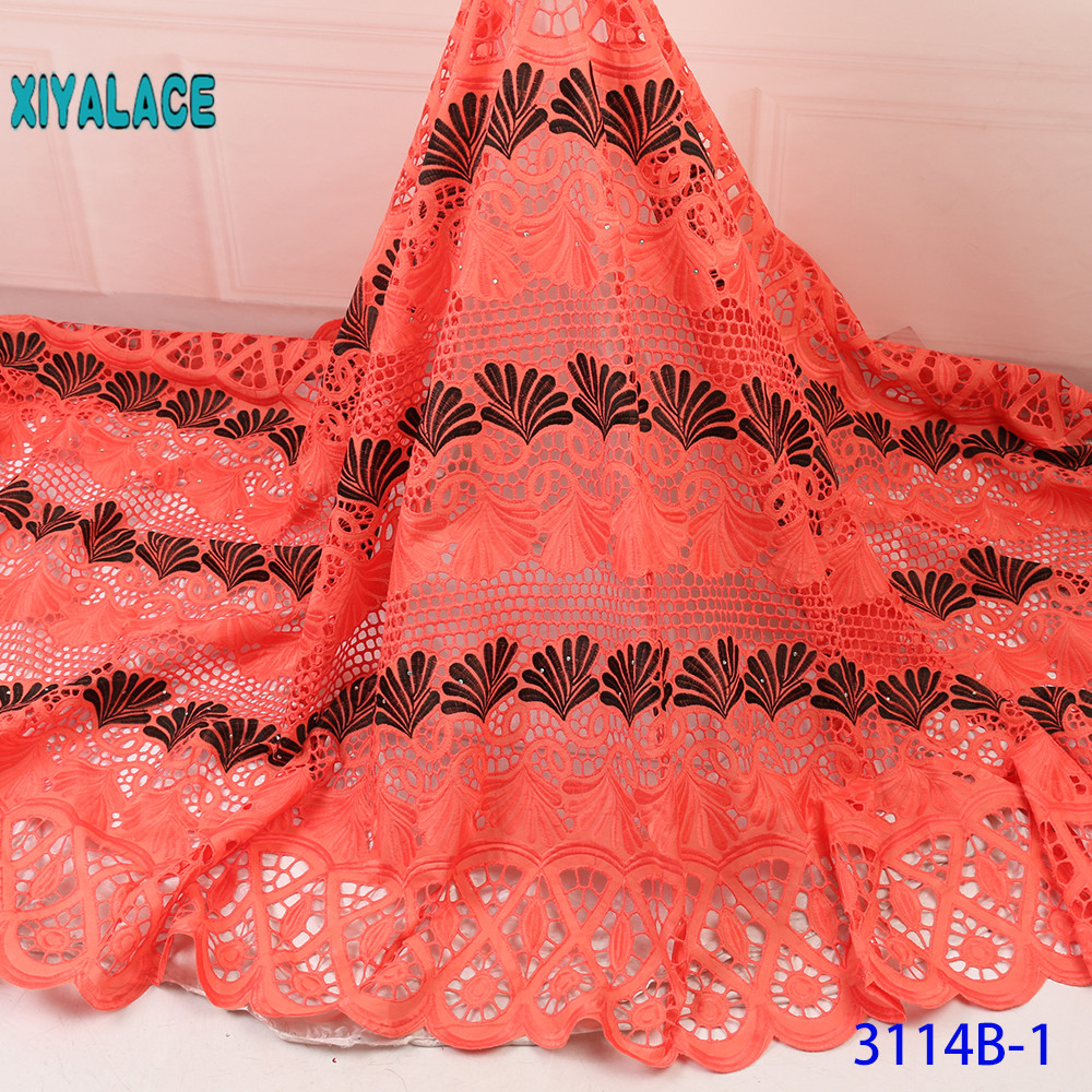 Fashion Latest French Lace Fabric Nigerian African Lace With 2019 High Quality Tulle Lace Fabric For Bridal YA3114B-1