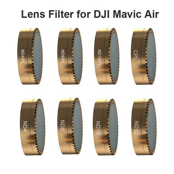 цена на Camera Lens Filter for DJI Mavic Air Drone CPL ND PL Polarizing Filter ND 4 16 32 64 PL Neutral Density Lens Filter Accessories