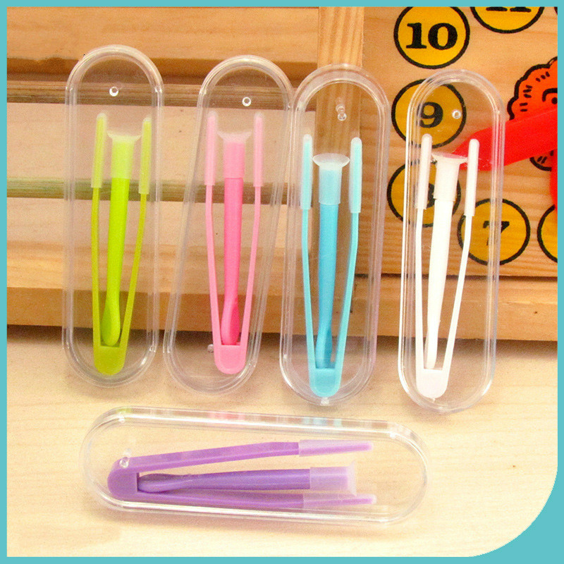 5 Colors 1 Set Covers For Contact Lenses Multicolor Tweezers And Suction Stick For Special Clamps Tool Inserter Remover