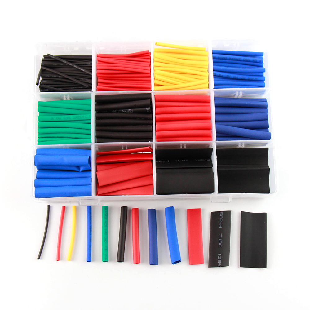 Calor shrinkable tubo 560 pçs cor mangueira com caixa de isolamento de fio manga protetora kit eletrônico diy conjunto