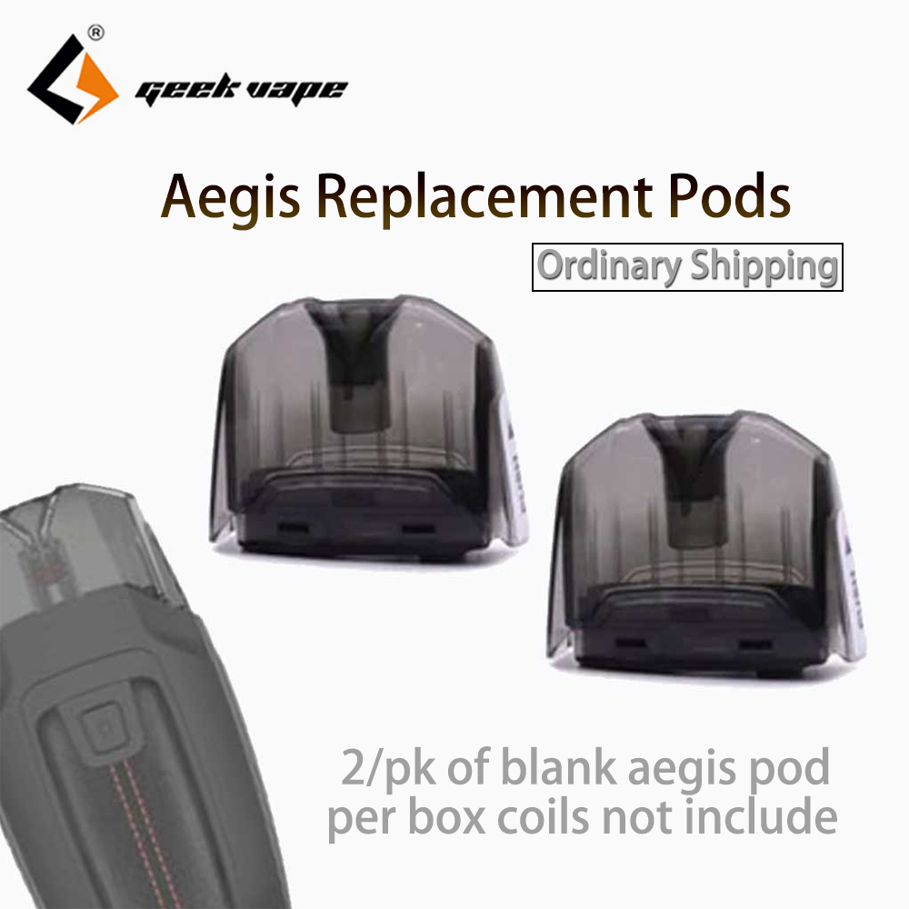 2pcs/pack Geekvape Aegis Replacement Pods No Coil With 3.5ml Capacity Empty Cartridge For Aegis Pod Mod Kit