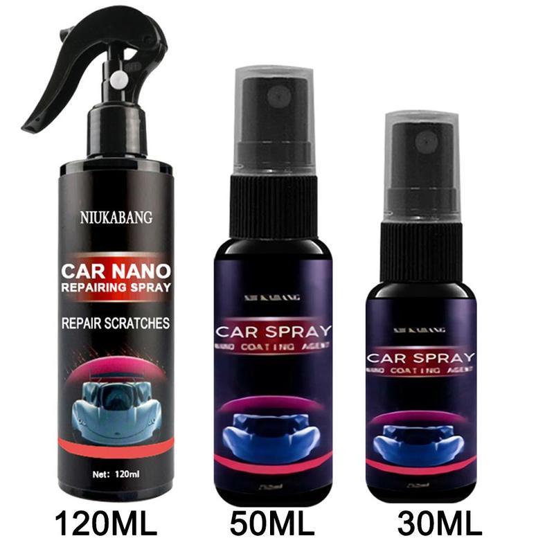 Спрей для удаления царапин с автомобиля, нанопокрытие для ухода за лакокрасочным покрытием, водостойкое, блестящее, жидкий блеск, воск