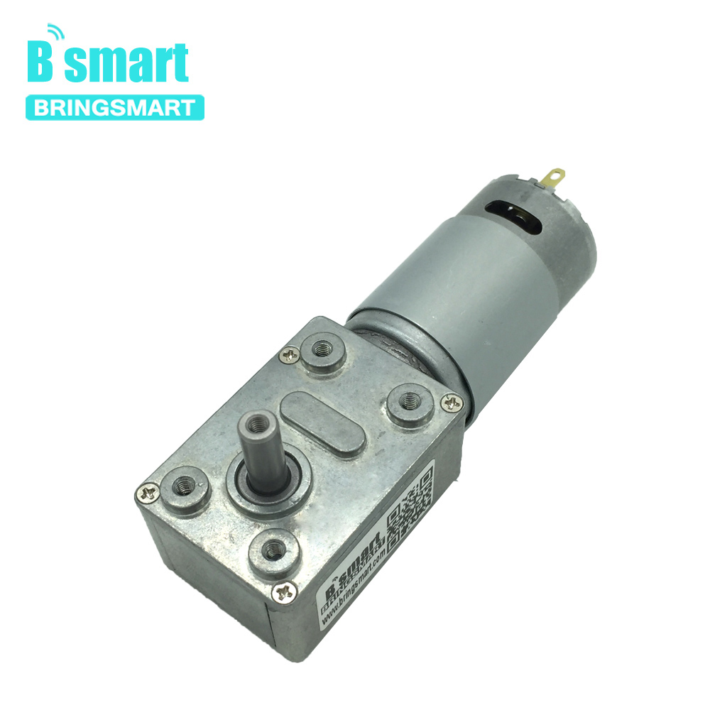 Bringsmart JGY-<font><b>395</b></font> Worm Gear <font><b>Motor</b></font> <font><b>DC</b></font> 12 Volt Small Reducer <font><b>Motor</b></font> 12V Worm Reduction Gearbox Engine Self-locking Geared <font><b>Motor</b></font> image