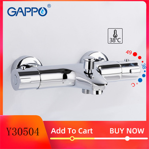 GAPPO Shower faucets thermostatic bath mixer with thermostat mixer faucets wall mounted waterfall bathtub faucet Y30504(China)