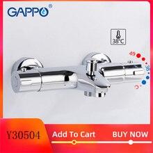GAPPO mitigeur de bain thermostatique avec robinets de douche, mitigeur de bain à cascade mural Y30504