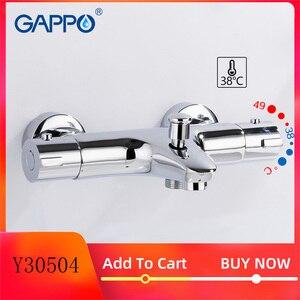 Image 1 - GAPPO mitigeur de bain thermostatique avec robinets de douche, mitigeur de bain à cascade mural Y30504