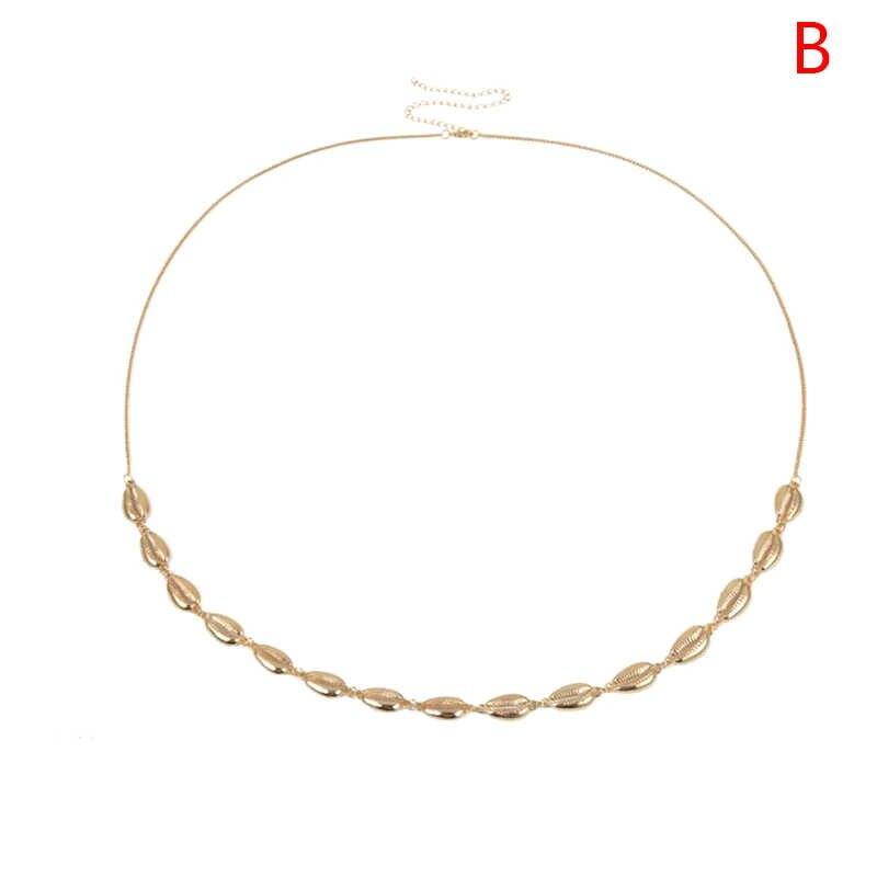 דקורטיבי Cowrie מעטפת זהב בטן שרשרת לנשים דק חגורת מותן קיץ חוף ביקיני חוף בטן גוף תכשיטים