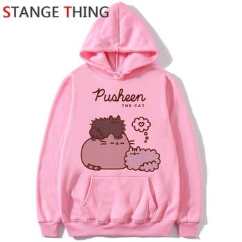 Kawaii Pusheen Cat Harajuku Funny Cartoon Hoodies Women Ullzang Cute Korean Style Autumn Winter Sweatshirt 90s Warm Hoody Female Buy At The Price Of 6 74 In Aliexpress Com Imall Com