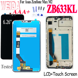WEIDA Original Lcd For Asus Zenfone Max M2 ZB633KL LCD Display Screen+Touch Panel Digitizer For Asus ZB633KL ZB632KL Lcd X01AD