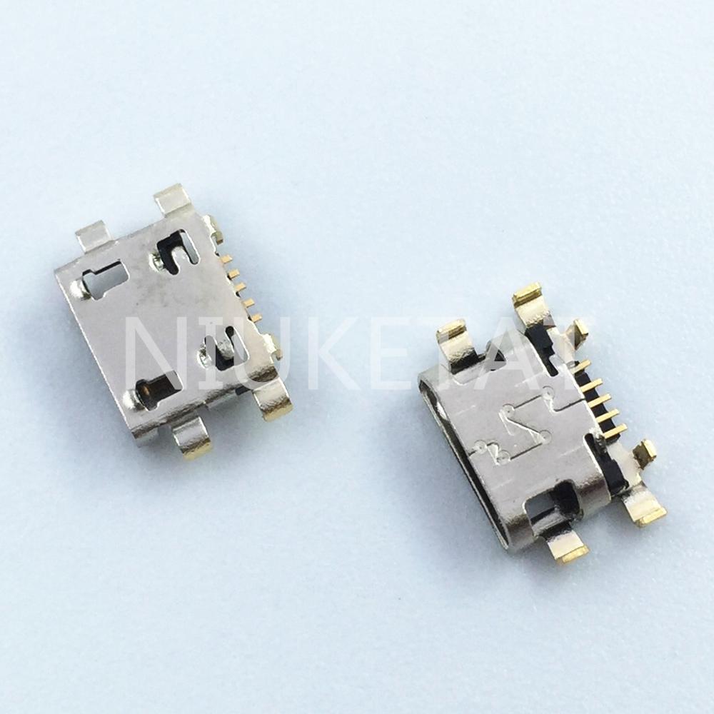 100pcs Micro USB 5Pin Jack Connector socket Data charging port tail plug For Motorola Moto G6 Play XT1922/G6 Plus Service parts