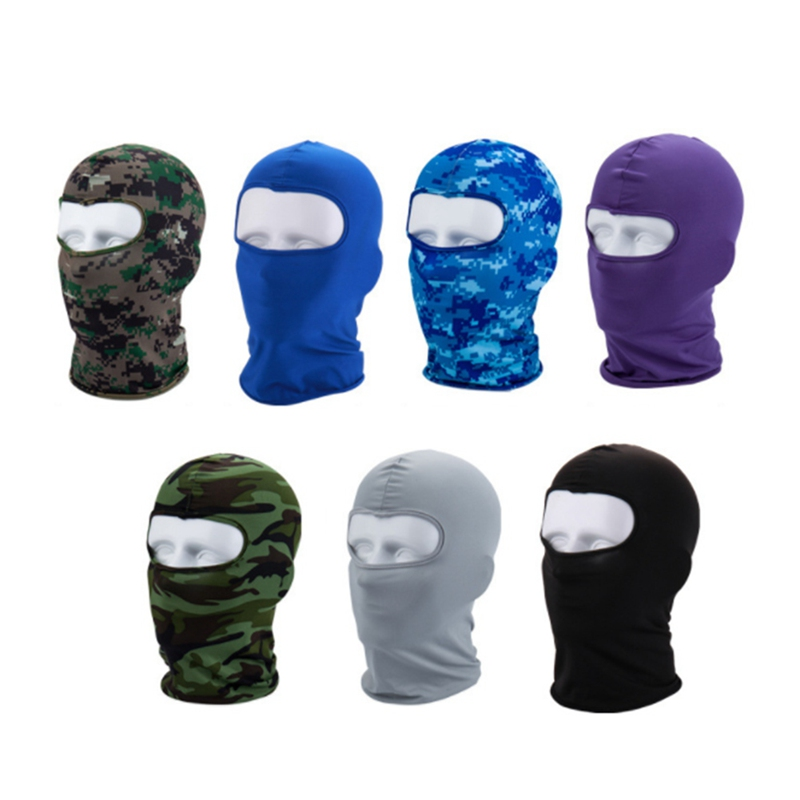 1 Pcs Face Shield Protection Tactical Paintball Military Army Anti-terrorism Mask Lycra Fabric Dust Prevention Face Shield