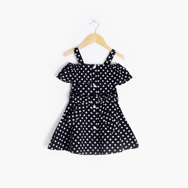 Newborn Baby Girl Clothes Kids Girls Dress Cute Girl Summer Clothes 2020 Fashion Cotton Dot Pattern Shoulderless Princess Dress