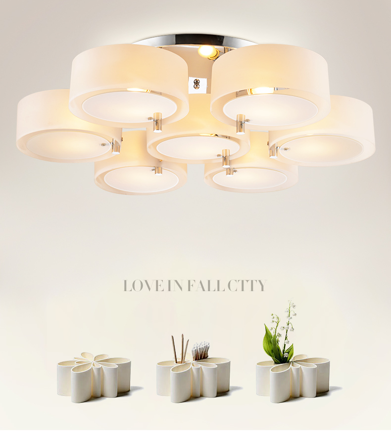H5ebd79ee0fa6422187611710852a45c92 NEW 2019 Modern Ceiling Lights modern fashionable design dining room lamp pendente de teto de cristal white shade acrylic lustre