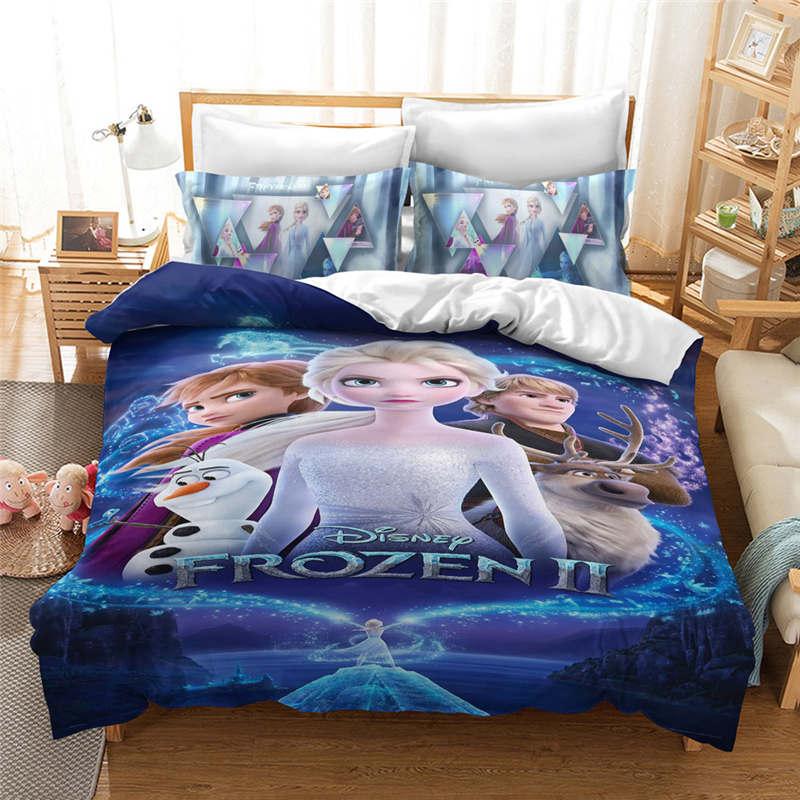 Frozen 2 Elsa Anna Selimut Penutup Untuk Anak Perempuan Dekorasi Kamar Tidur Twin Ukuran Set Tempat Tidur Queen King Selimut Tempat Tidur Single Linen 3d Biru Set Tempat Tidur Aliexpress
