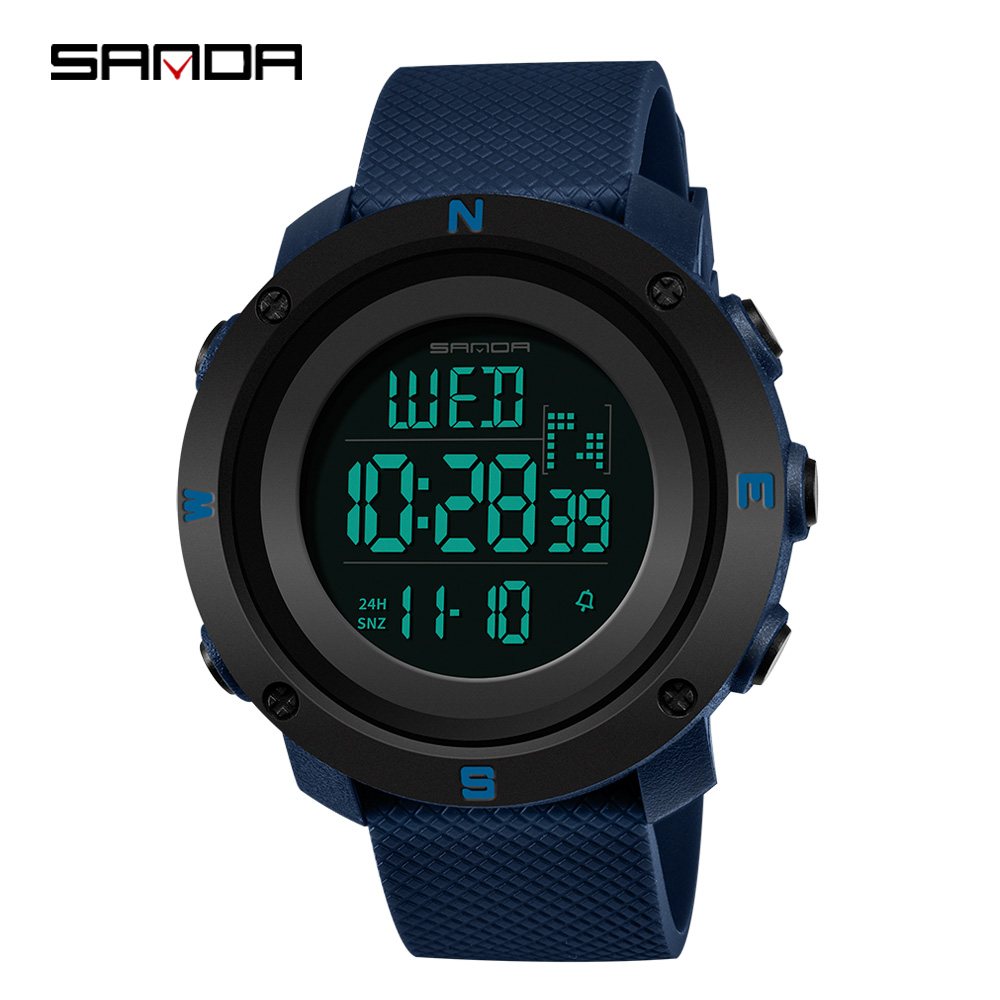 Digital Watch SANDA Door-Sport Waterproof Men Fashion High-Quick Relogios Cheap Out 361g