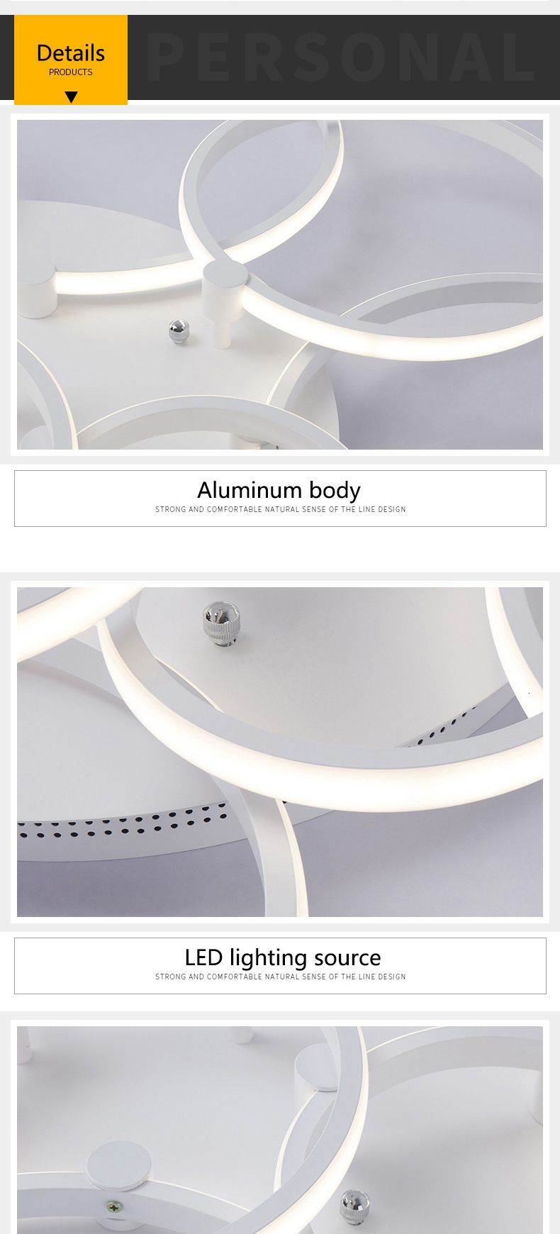 H5ebd9a971aad459d919abd9b78f70bd2K Surface mounted modern led ceiling lights for living room Bed room light White/Brown plafondlamp home lighting led Ceiling Lamp