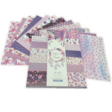24 Pçs/lote Roxo Amor Retro Material Papéis Scrapbooking DIY Álbum Diário Presente de Papel Scrapbooking papel Decorativo