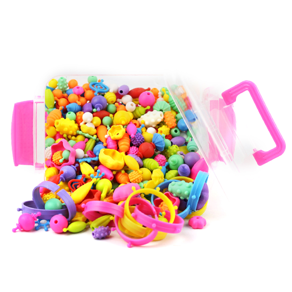 485 Pcs Early Childhood Hand Beaded Jewelry Making Art Crafts Beads Children For Kids Poppy Set DIY Cordless Educational Toys