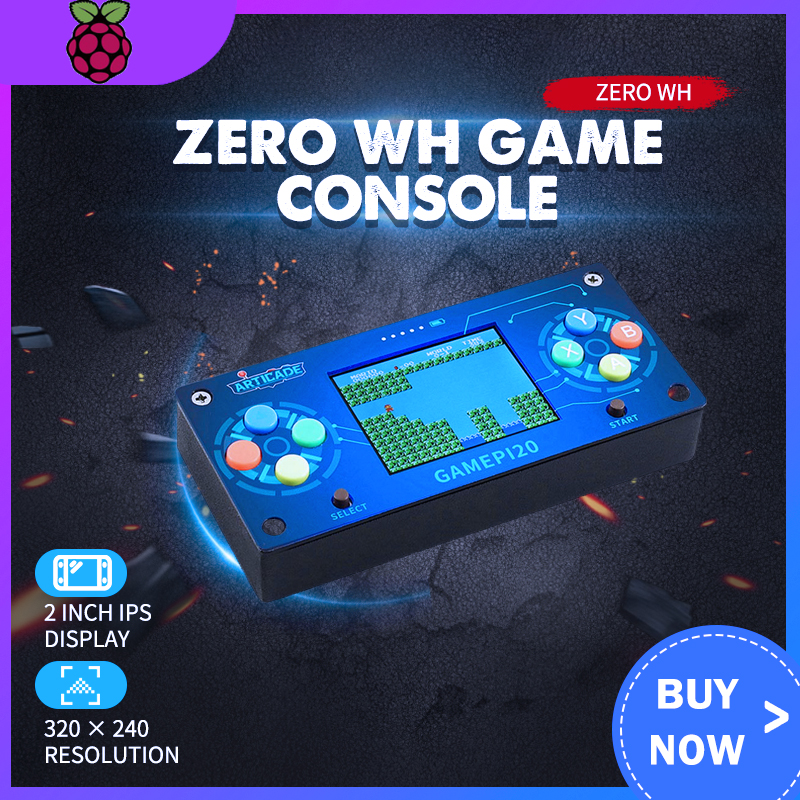 GamePi20 Add-ons For Raspberry Pi Zero To Build GamePi20 Player Mini Portable Video Game Console Hat With 2.0inch IPS Display