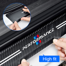 4pcs Car Sticker Door Carbon leather Fiber Sill Plate For BMW M E91 E46 E92 E93 M3 E60 E61 F10 F07 m5 m6 m7 x4 x5 x1 e30 e39 e46