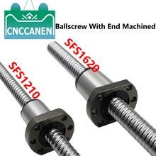 SFS1210 SFS1620 Ball Screw High Speed With End Machined C7 Accuracy 1210 1620 Ballscrew 250~1550mm +SFS Ball Nut For CNC Machine