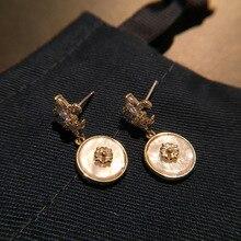baroque Letter Earrings Shell Crown Cross Small Sweet jewelry pearl women earrings boho bohemian luxury indian