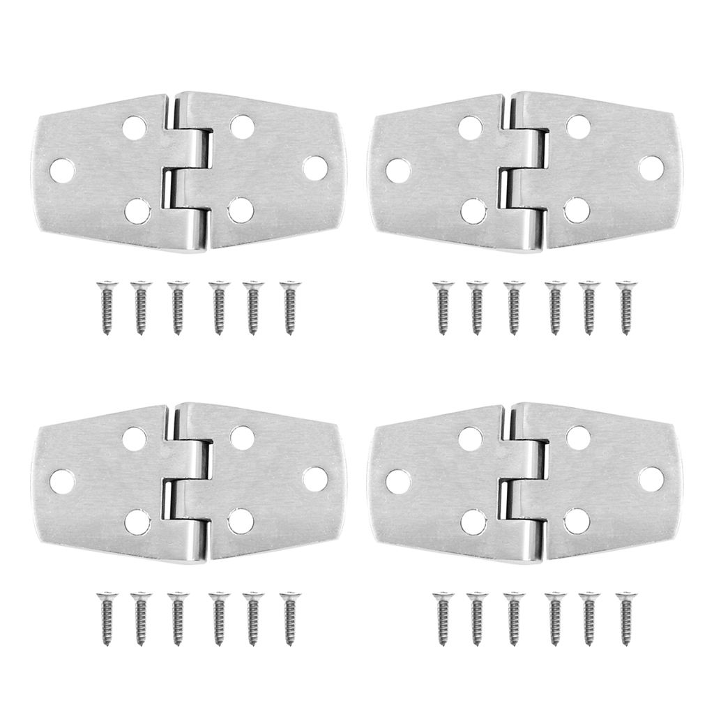 MagiDeal 4pcs Marine Boat Door Hatch Cabin Hinge Strap - Stainless Steel