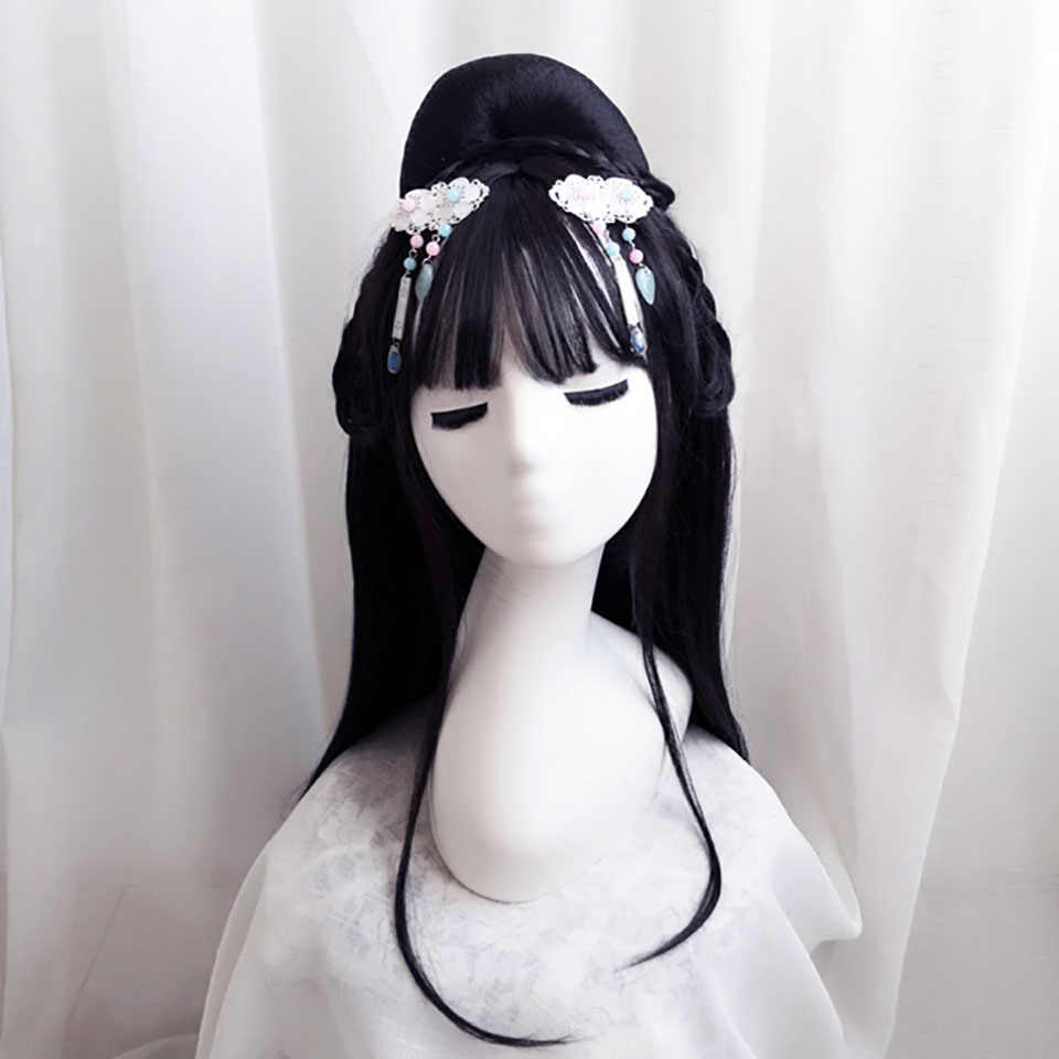 Chinese Ancient Hair 13 Styles Custom Retro Chinese Style Set Traditional Synthetic Wigs