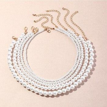 Women Fashion Charm Party Necklace Jewelry Pearl Jewelry