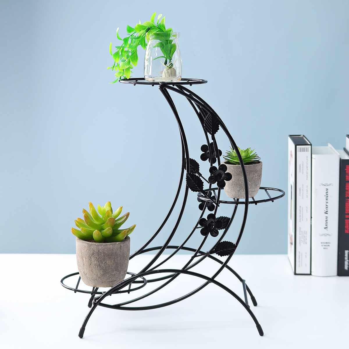 Household Iron Plant Stand Succulent Shelf Rack Multi-layer Garden Balcony Desktop Decor Indoor Coffee Flower Pot Shelf