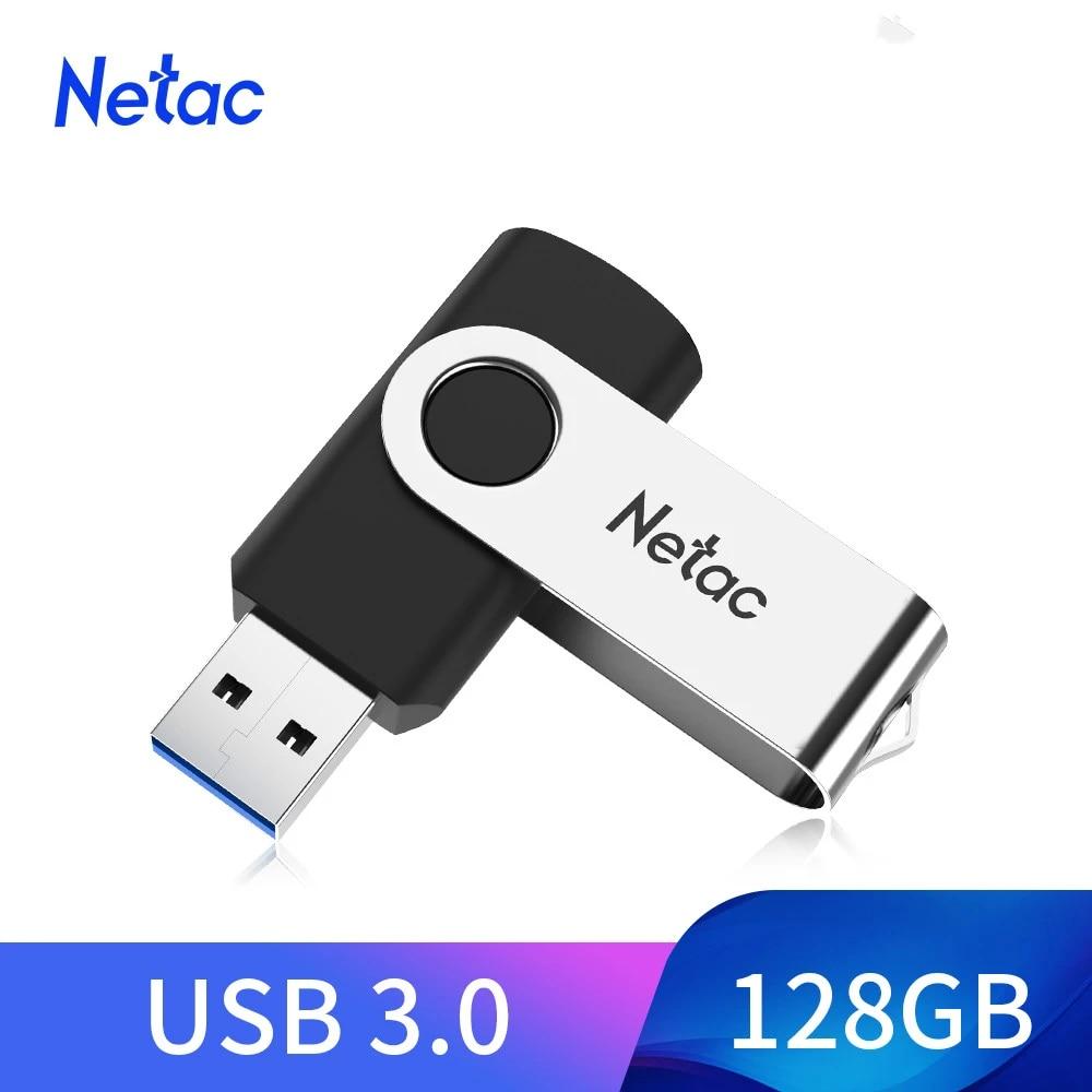Netac Tâm Thần USB Flash 16GB 32GB 64GB 128GB 256GB Ổ Bút USB 3.0 đèn LED Thẻ  Nhớ Đĩa USB Màu Đen USB Flash Drives
