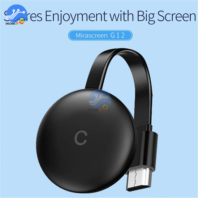 G12 TV Stick Chromecast 4K HD HDMI Media Player 5G/2.4G WiFi Display Dongle Screen Mirroring 1080P HD TV for Google Home