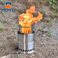Bump Outdoor Camping Furnace End Deconstructable Wood Stove Portable Picnic Barbecue Stove Cross Border Wholesale AT6319