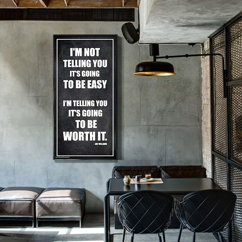 Inspirational Motivational Quote Framed Prints Home Decoration Living Room Art