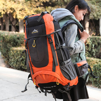 New 60L Outdoor Backpack Camping Climbing Bag Waterproof Mountaineering Hiking Backpacks Molle Sport Bag Climbing Rucksack
