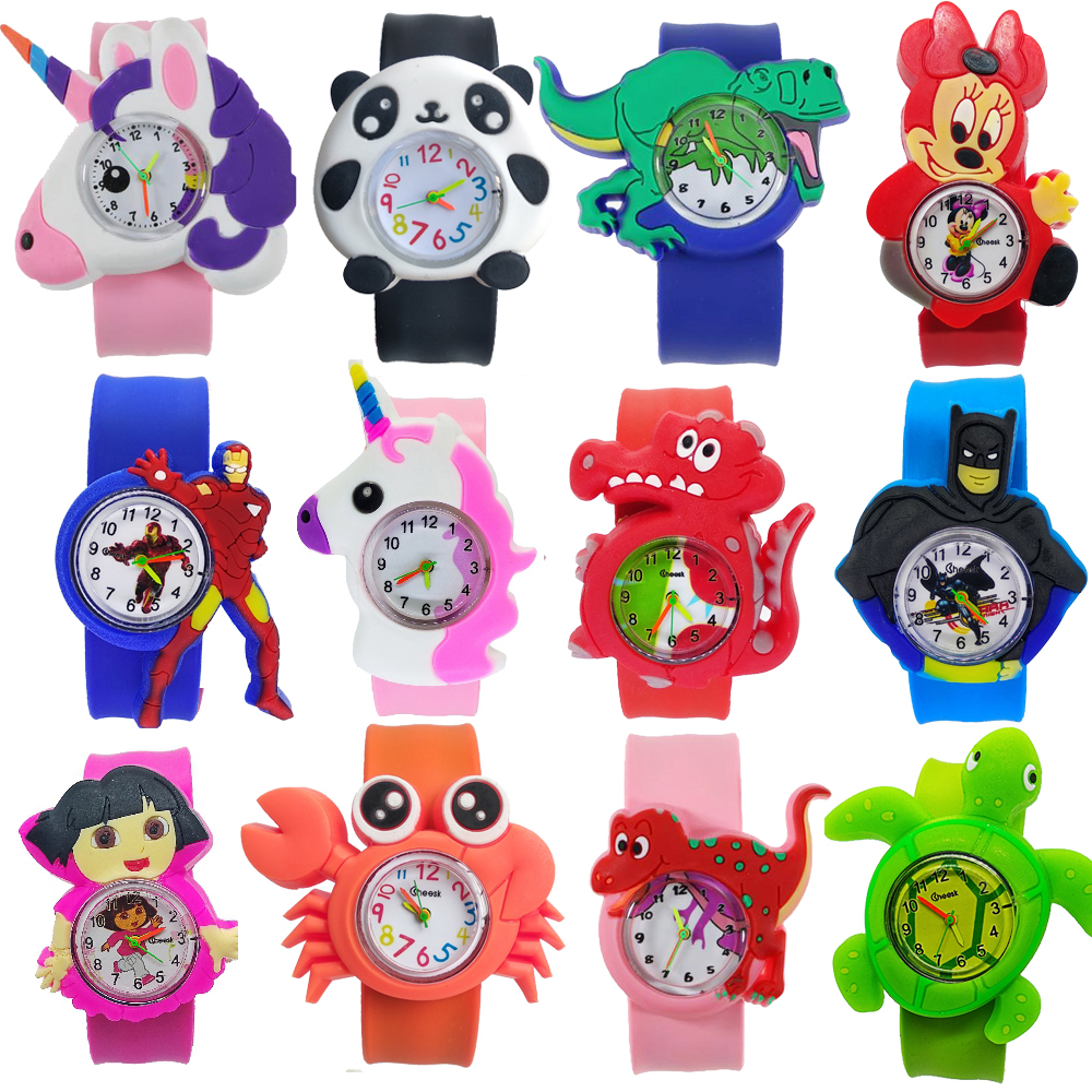 Manufacturers Wholesale Kids Watches Cartoon Dinosaur Animal Children Watch Clasp Circle Baby Toys Boys Girls Watch Gift Clock