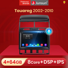 Reprodutor de vídeo dos multimédios do rádio do carro do dsp de junsun v1 android 10.0 para volkswagen touareg 2002-2010 2 din dvd