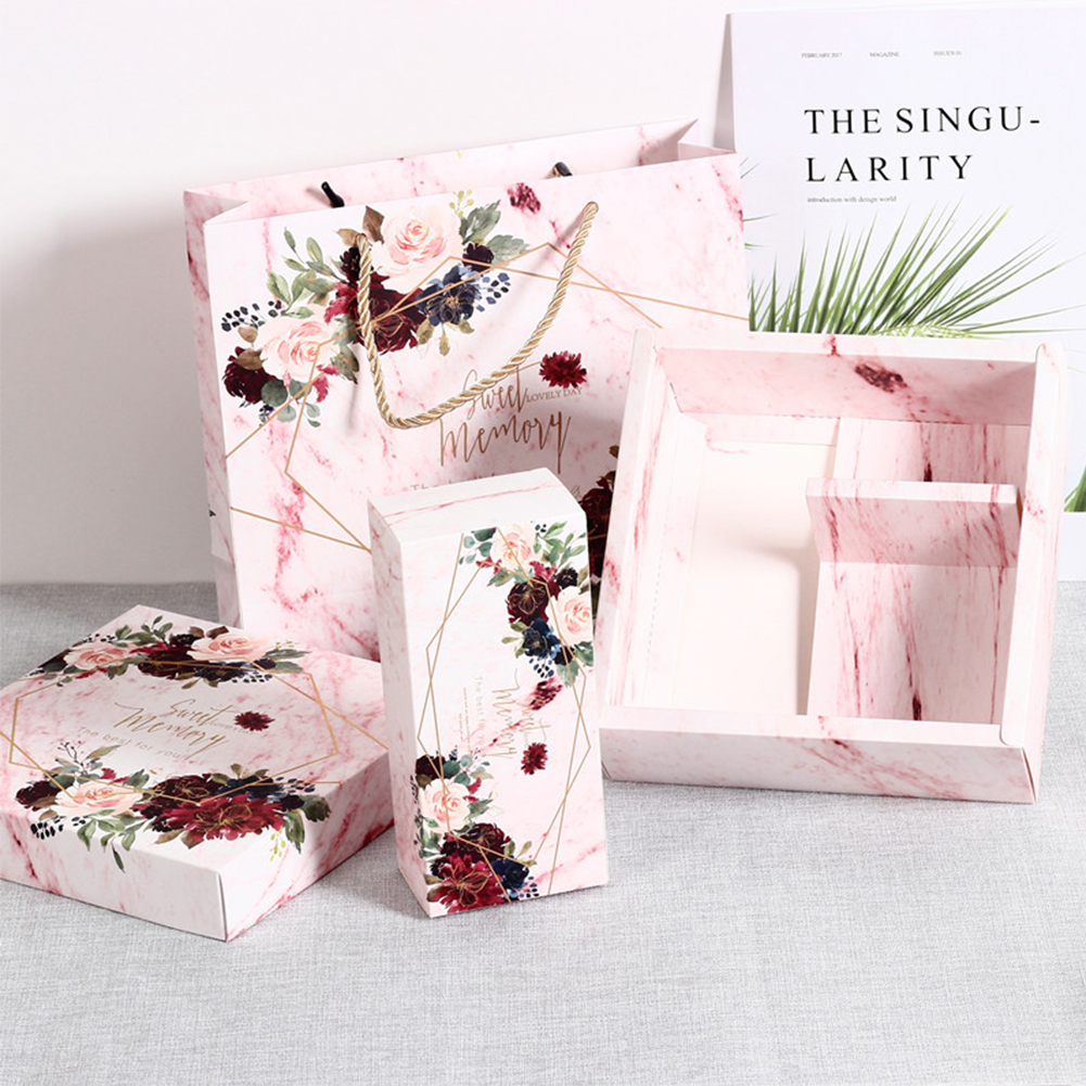 Proposal Flower Pattern Box Wedding Bridesmaid With Gift Box Candy Birthday Bridesmaid Perfect For Wedding Party Decoration