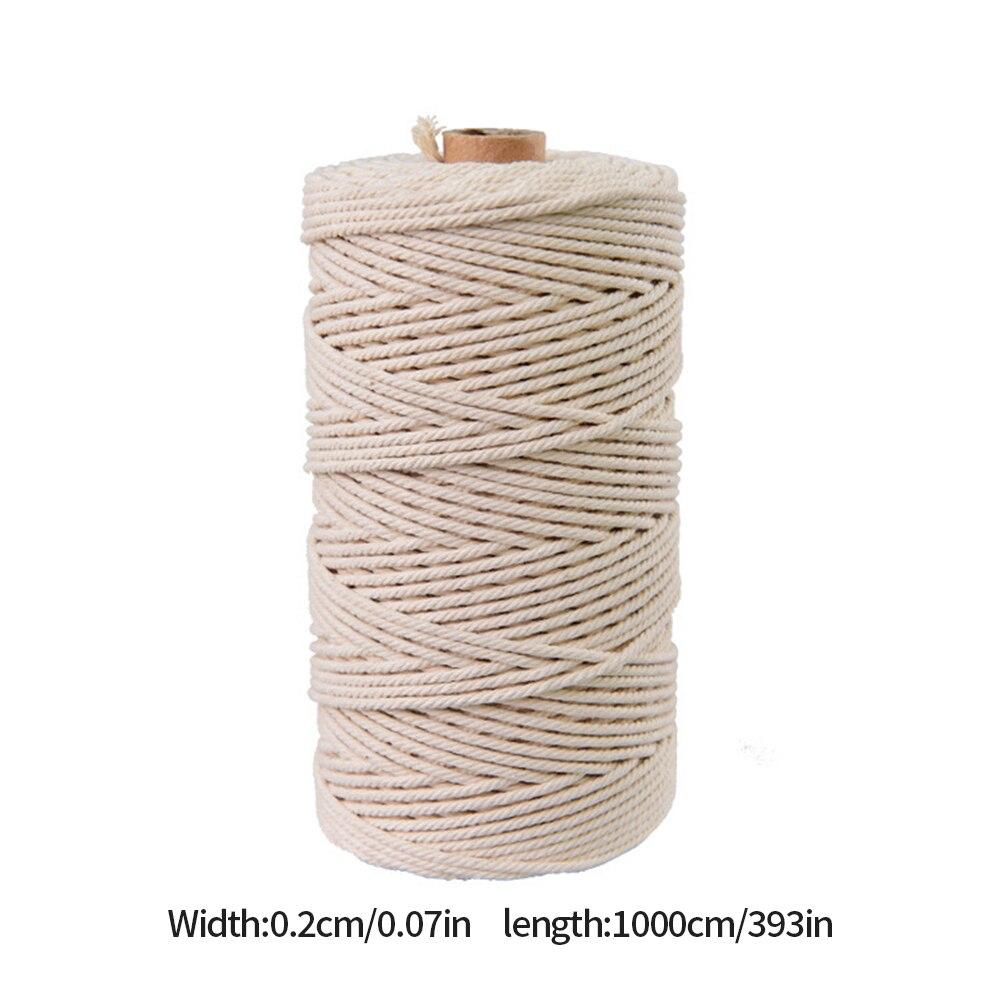 Хлопковый шнур 2 мм 3 хлопковый для макраме настенный подвесной