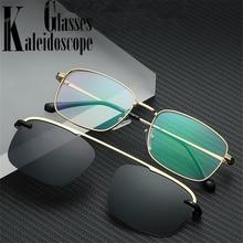 Clip on Polarized Sunglasses Men Women Anti-blue li