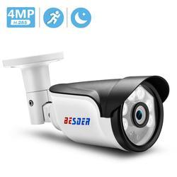 Kamera IP BESDER H.265 5MP/3MP/2MP wykrywanie ruchu IR noktowizor IPC DC 12V 48V PoE opcjonalnie ONVIF Bullet zewnętrzna kamera telewizji przemysłowej