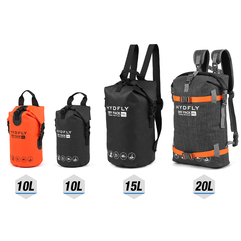 Waterproof Dry Bag River Trekking Floating Roll-top Backpack Drifting Water 10L / 15L / 20L Floating Sailing Canoing Boating