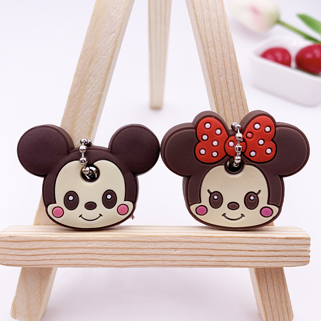 2Pcs/set Cute Cartoon Silicone Protective key Case Cover For key Control Dust Cover Holder Organizer Home Accessories Supplies 1